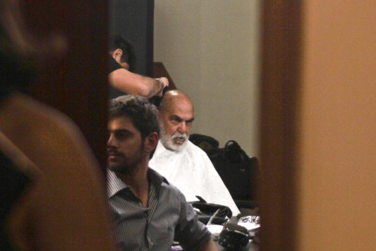 O ator Lima Duarte se prepara para gravação do DVD da dupla Chitãozinho e Xororó em comemoração aos 40 anos de carreira na Sala São Paulo, em São Paulo (1/8/11)