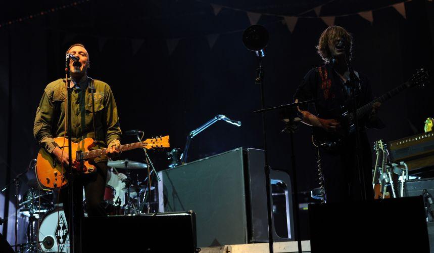 A banda canadense Arcade Fire em show no festival Coachella, na Califórnia (16/04/2011)