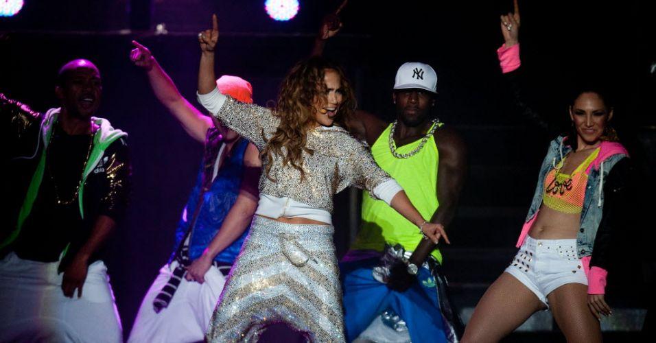 Jennifer Lopez apresenta na Venezuela show que chega ao Brasil nos dias 23 e 27 no Brasil, no Pop Music Festival (17/6/12)