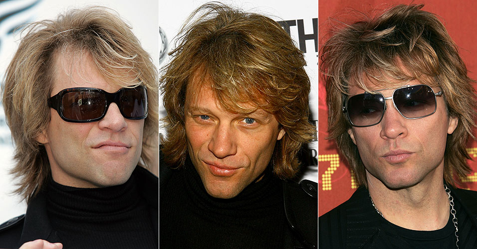 Algumas das bocas que Jon Bon Jovi adora fazer quando tira fotos. Todas do ano de 2007