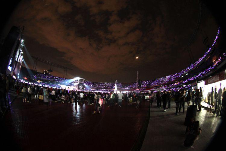 Justin Bieber se apresenta pela primeira vez em São Paulo, no Estádio do Morumbi, neste sábado (8/10/2011). No Brasil com a turnê