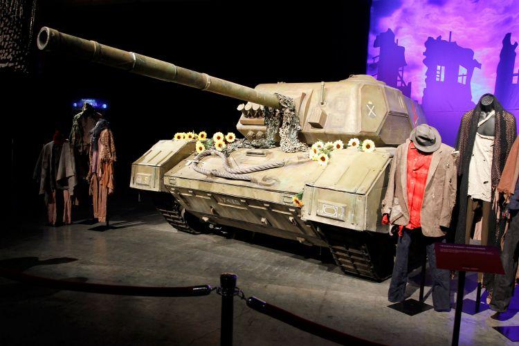 Tanque de guerra que seria utilizado na turnê