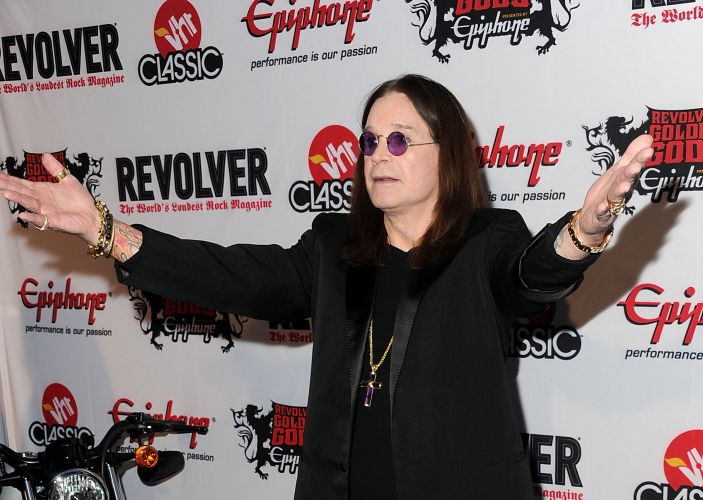 Ozzy Osbourne chega no evento Revolver Golden Gods Awards no Club Nokia em Los Angeles, nos Estados Unidos (08/04/2010)