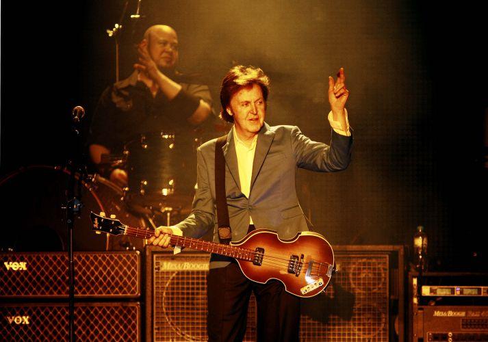 Paul McCartney durante apresentação da turnê