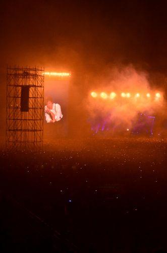 Paul McCartney durante sua segunda apresentação no Rio de Janeiro, no Estádio João Havelange, pela turnê