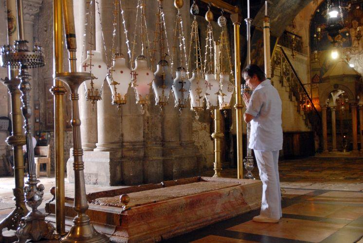 Roberto Carlos na Basílica Santo Sepulcro, em Jerusalém (3/9/11)