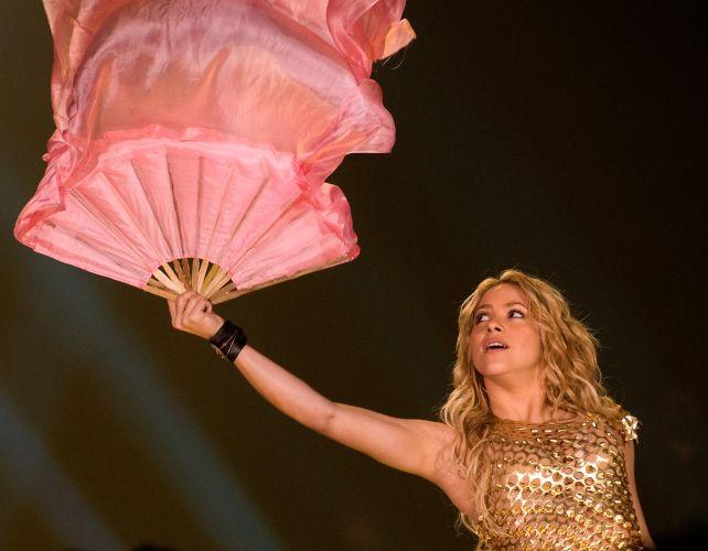 A cantora Shakira em show da turnê