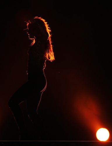 A cantora Shakira em show em Buenos Aires, parte do Pop Music Festival, que tem curadoria da colombiana (05/03/2011)