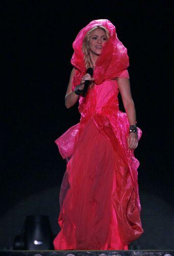 Shakira em show realizado em Buenos Aires, no estádio Porto Madero, onde cantou sucessos e músicas do disco novo,