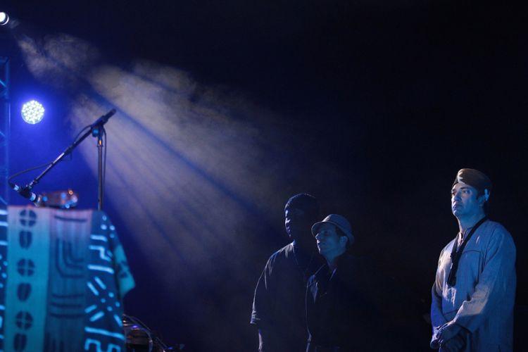 Banda do compositor cubano Omar Sosa durante apresentação no festival de música latina (25/8/11)
