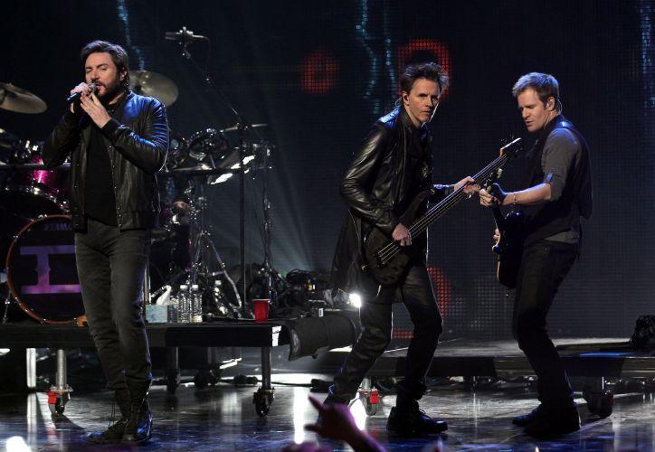 O grupo britânico Duran Duran durante apresentação no VH1's Pepsi Super Bowl Fan Jam em Grand Prairie, no Texas (03/02/2011)