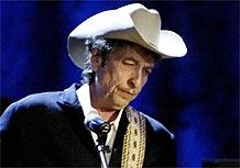 Bob Dylan durante show em Los Angeles, EUA (05/05/04)
