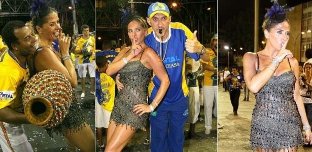 Adriane Galisteu participa de ensaio da Unidos da Tijuca, no Sambódromo, Rio (20/12/2009). A apresentadora terá a confirmação de sua gravidez dia 23 de dezembro. Galisteu parou de se precaver há mais de um mês