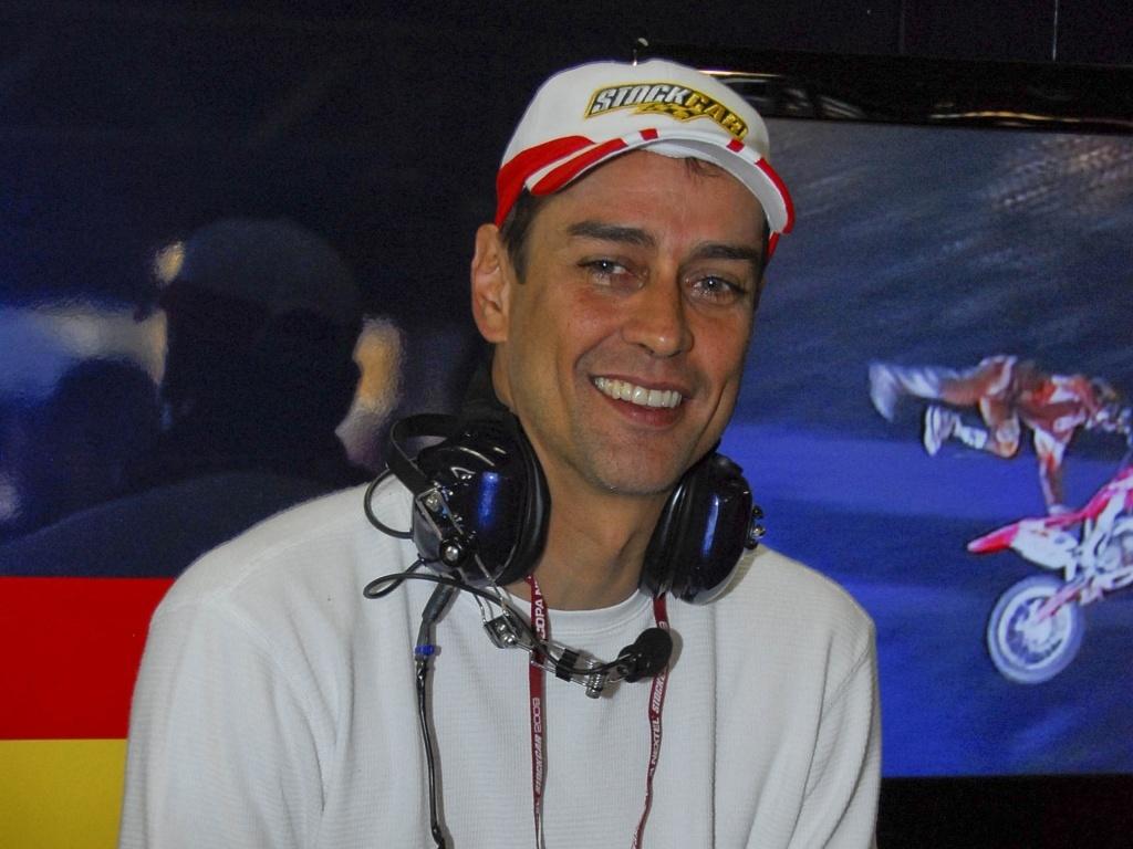 O ator Marcello Antony na última etapa da Copa Nextel Stock Car em SP (6/12/2009)