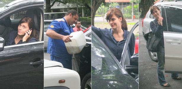 O carro de Carolina Dieckmann enguiçou no Leblon, no Rio de Janeiro. Apesar dos esforços do funcionário de um posto de gasolina, o carro da atriz teve que ser rebocado e ela foi embora de carona (4/3/10)