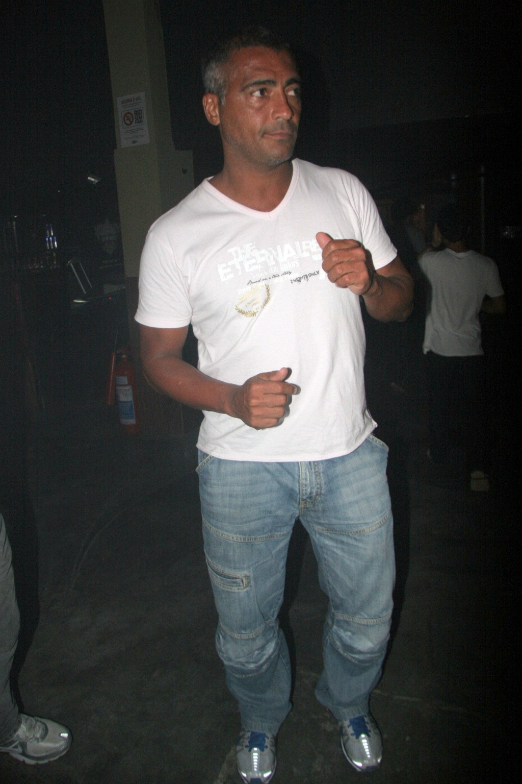 O jogador Romario na casa noturna People, na Barra da Tijuca, no Rio de Janeiro (24/1/2010)