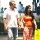 Patrícia França passeia com o marido Wagner Pontes em shopping do Rio -