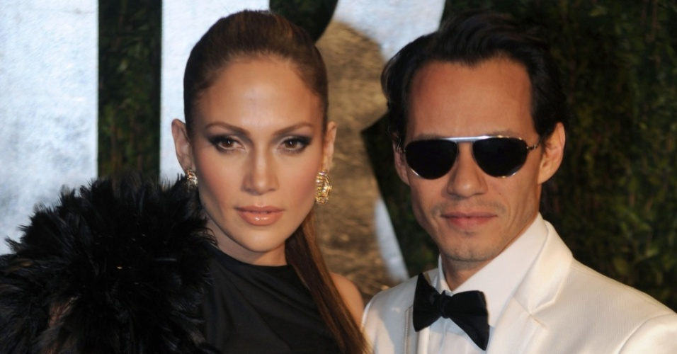 Jennifer Lopez e Marc Anthony participam de evento no Sunset Tower Hotel na California, Estados Unidos (07/03/2010)