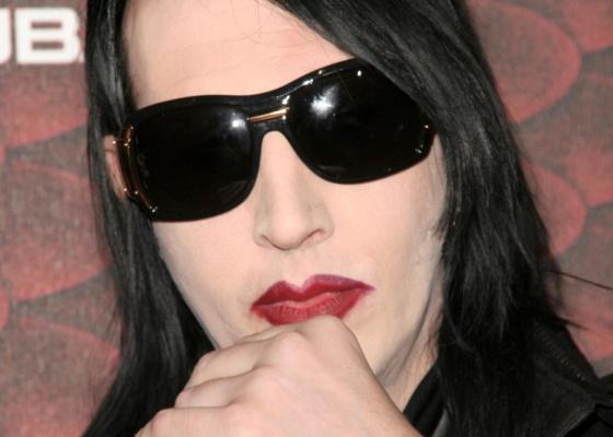 Marilyn Manson no tapete vermelho do Scream Awards em Los Angeles