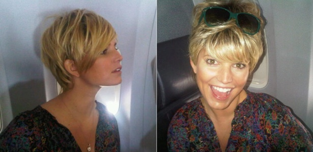 Jessica Simpson mostra o novo corte de cabelo em fotos no Twitter (12/4/2010)