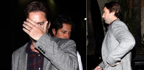 Luke Wilson esconde o rosto na saída de clube noturno em LA (12/4/2010)