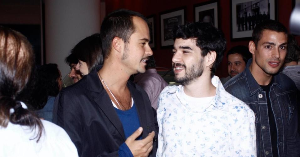 Paulo Vilhena, Caio Blat e Cauã Reymond na pré-estreia do filme