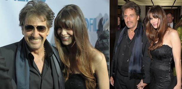 Os atores Al Pacino e Lucila Sola na première de