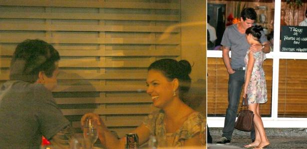A atriz Ísis Valverde janta com o novo namorado, Luis Felipe Reif Pepi, em um restaurante do Leblon, no Rio de Janeiro (18/4)