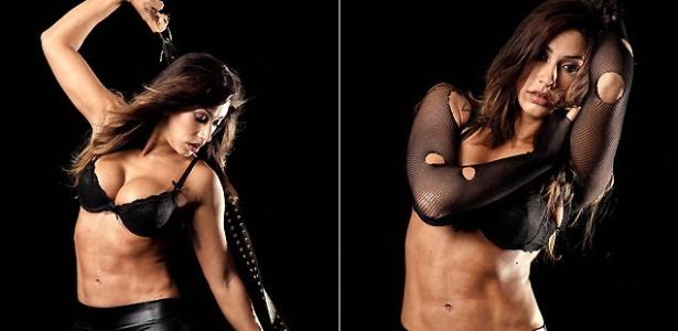 A modelo e panicat Dani Bolina posa para a revista