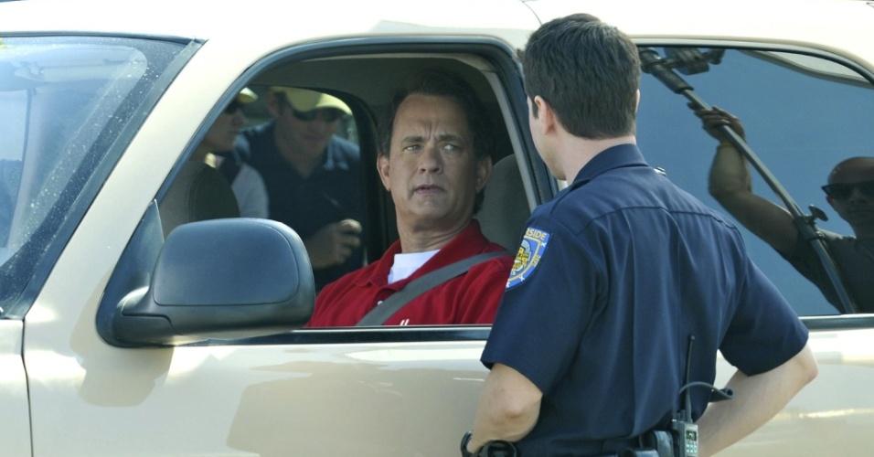 Tom Hanks filma cenas do longa