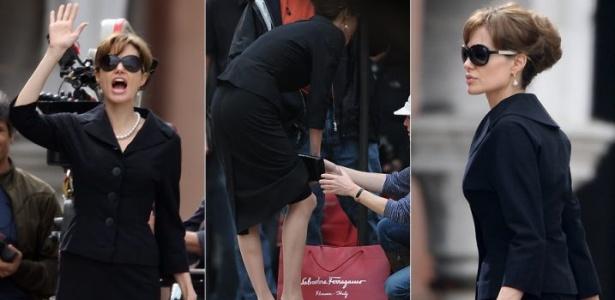 A atriz Angelina Jolie filma