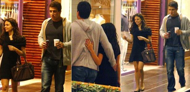 A atriz Isis Valverde passeia por shopping do Rio de Janeiro com o novo namorado, Luis Felipe Reif Pepi (13/5/2010).