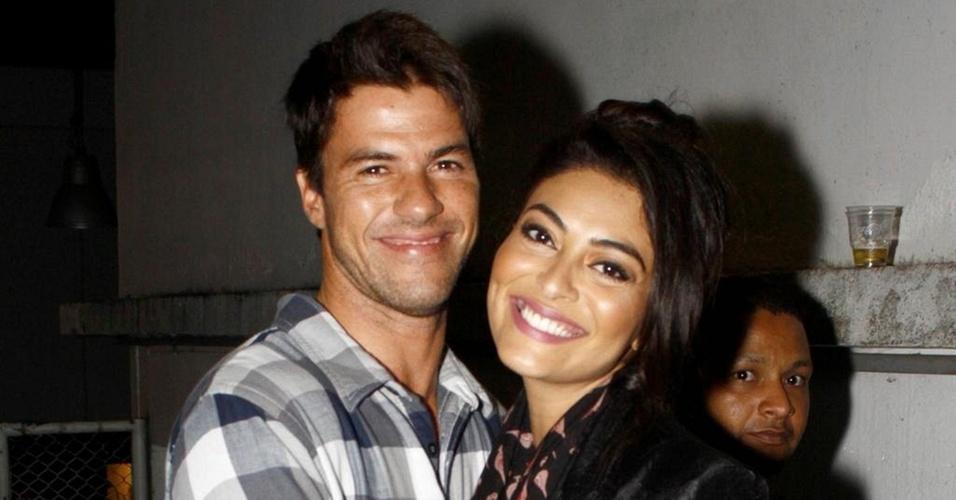 Carlos Eduardo Baptista e Juliana Paes em show de Ivete Sangalo no Rio de Janeiro (13/5/10)