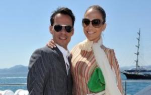 Marc Anthony e Jennifer Lopez participa de evento em um barco em Cannes (17/5/2010)