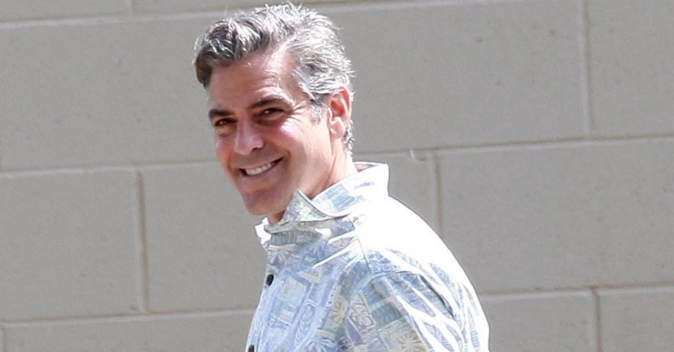 O ator George Clooney no set do filme 