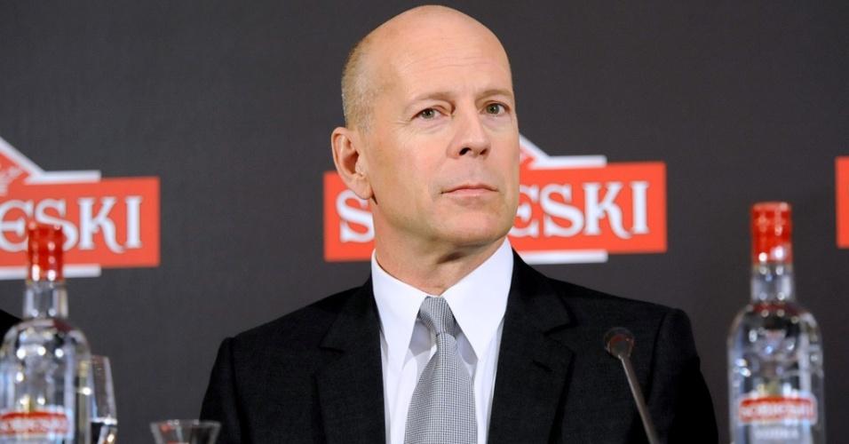 O ator Bruce Willis divulga marca de vodka em Madri (21/6/2010)