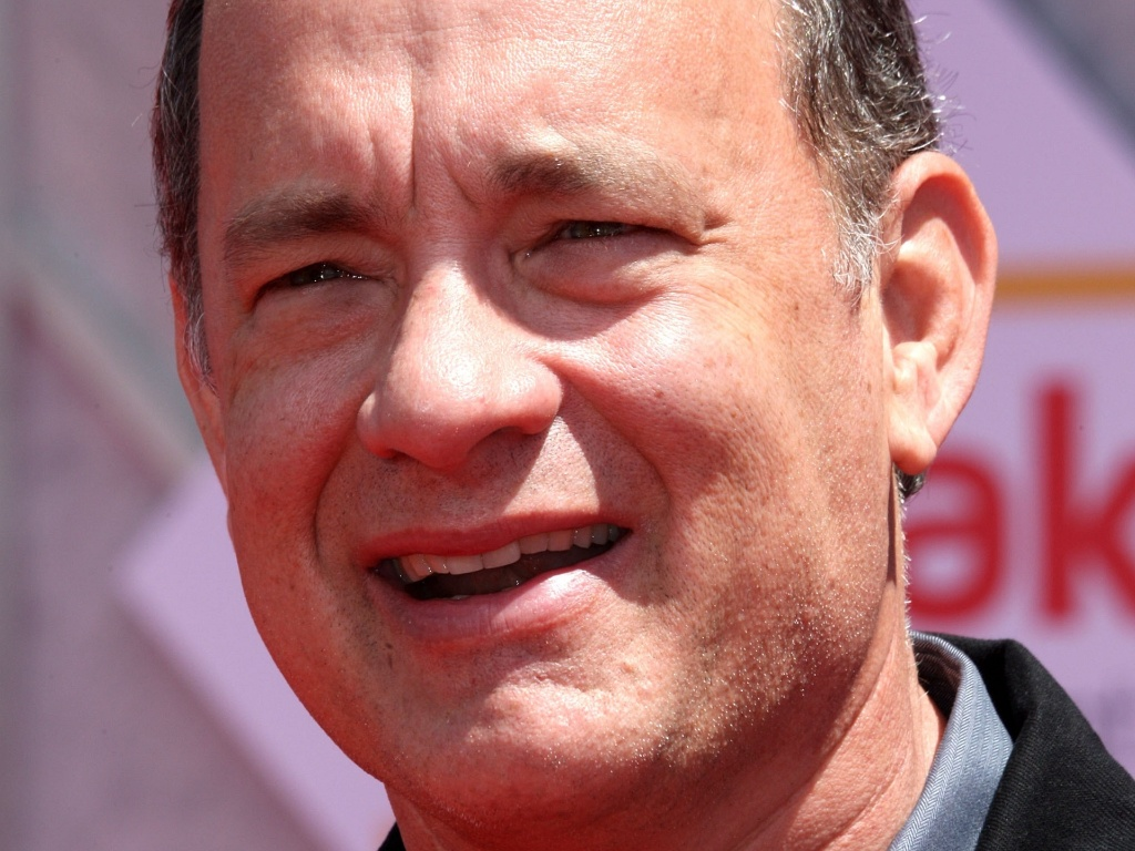O ator Tom Hanks na premiére de