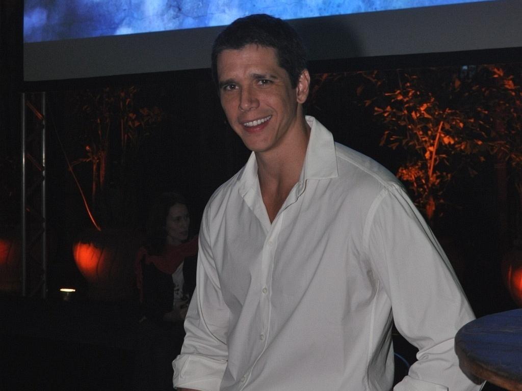 O ator Márcio Garcia no lançamento de