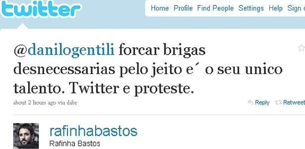 Rafinha Bastos trocou farpas com Danilo Gentili pelo Twitter (19/8/10)