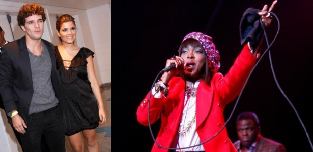 Daniel de Oliveira e Vanessa Giácomo vão ao show da cantora Lauryn Hill, no Citibanl Hall, no Rio de Janeiro (6/9/10)