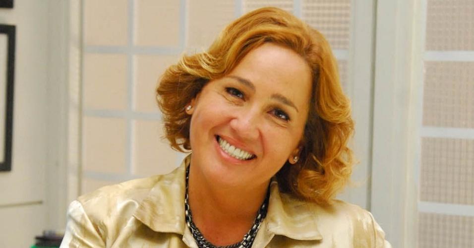 Claudia Jimenez durante gravação de