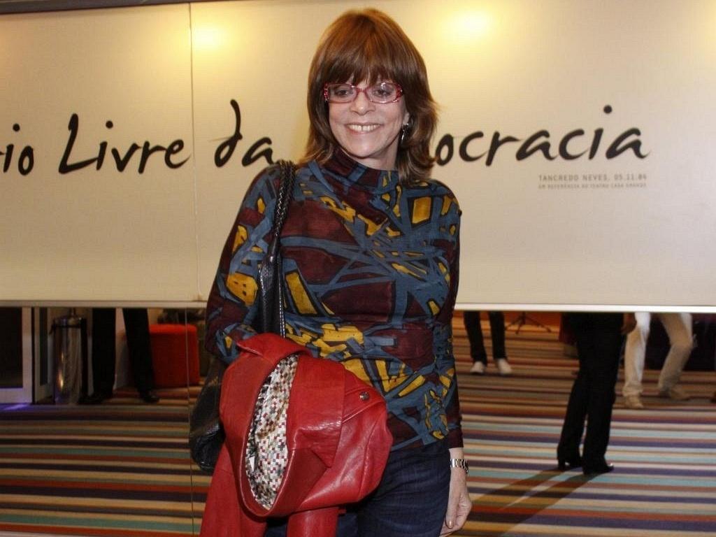 Glória Perez em debate sobre os 60 anos da TV brasileira, no Rio de Janeiro (22/9/10)