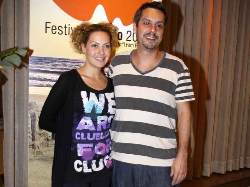 Alexandre Nero e Fabiula Nascimento prestigiam feijoada para convidados do Festival do Rio em um hotel de Copacabana, no sábado (2/10/2010)
