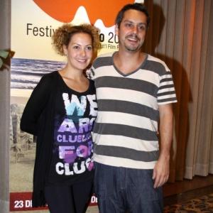 Alexandre Nero e Fabiula Nascimento prestigiam feijoada do Festival do Rio em um hotel de Copacabana (2/10/2010)