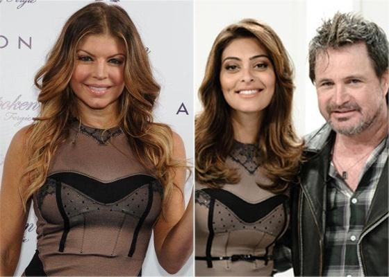 Antes do show em SP, Fergie usa o mesmo vestido que Juliana Paes usou no programa de estreia de