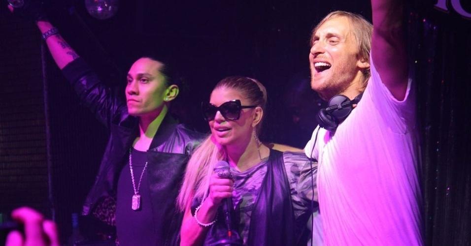 Taboo, Fergie e David Guetta tocam em festa para o Black Eyed Peas em São Paulo (4/11/2010)