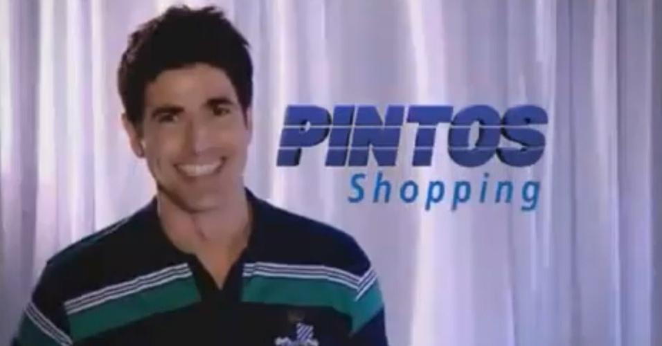 Reynaldo Gianecchini estrela comercial do Pintos Shopping, de Teresina (PI) (novembro/2010)