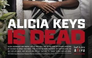 A cantora Alicia Keys participa de campanha de