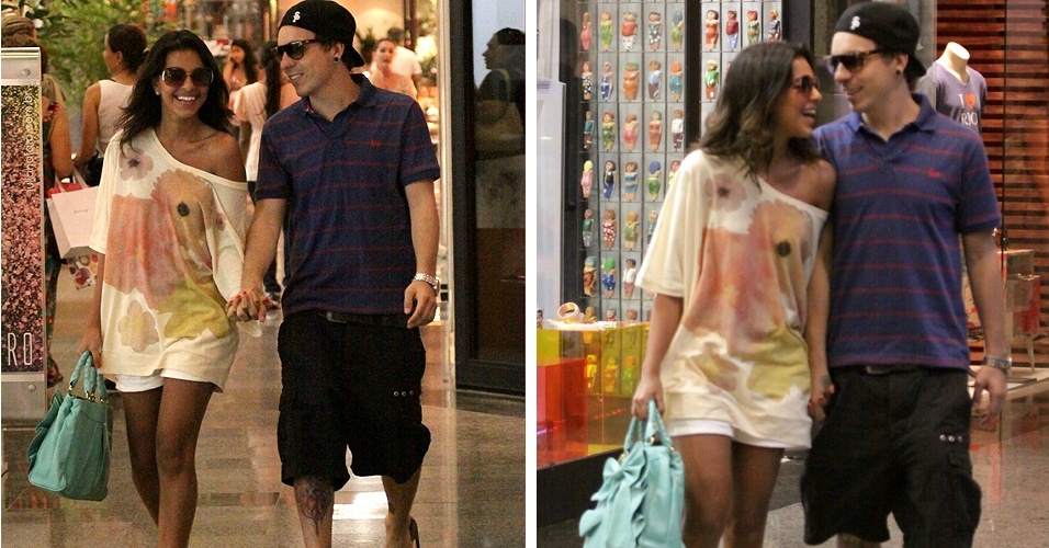 Mariana Rios e Di Ferrero passeiam em shopping da Barra da Tijuca, no Rio de Janeiro (03/12/2010)