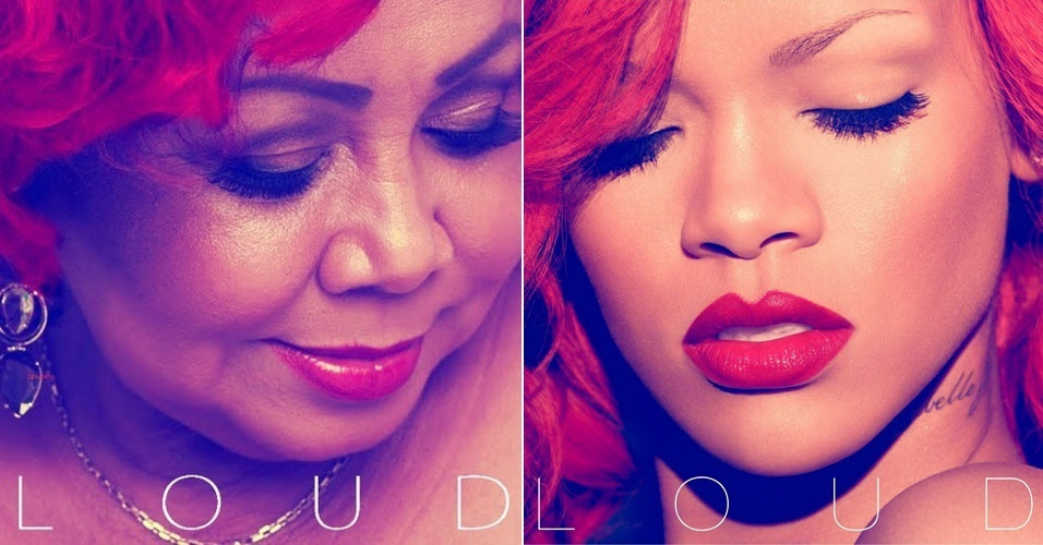 A cantora Alcione é montada na capa do álbum